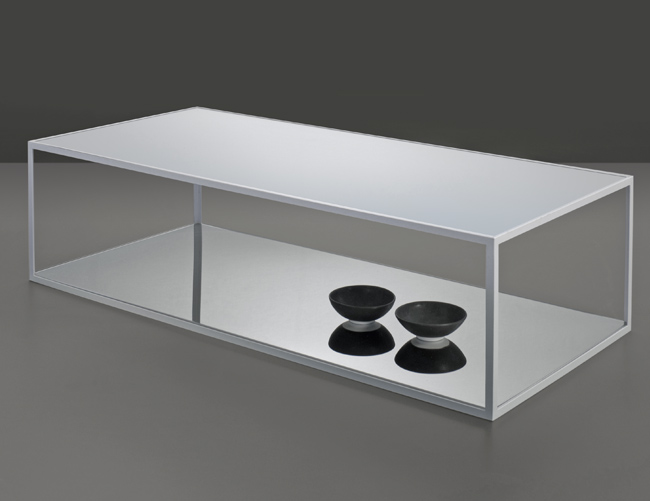 table doubleskin blanche