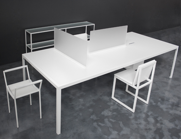 table bureau blanc